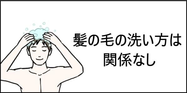 男性 髪の毛洗ってる